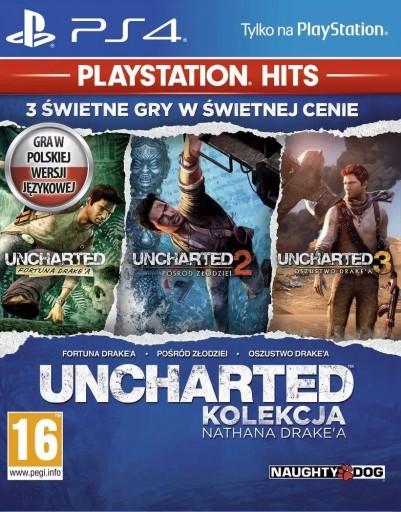3 GRY Uncharted Kolekcja Nathana Drake PS4 FULL PL