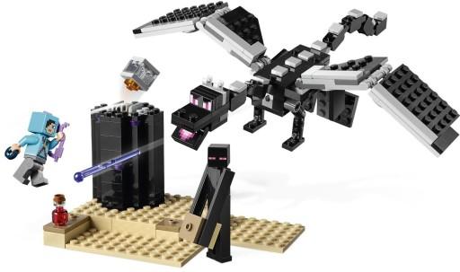 LEGO MINECRAFT 21151 ENDERDRAGON ENDERMAN SMOK !