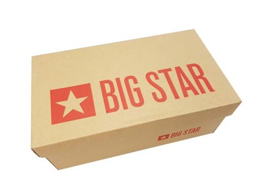 Trampki Big Star damskie czerwone wysokie FF274580 8999445403