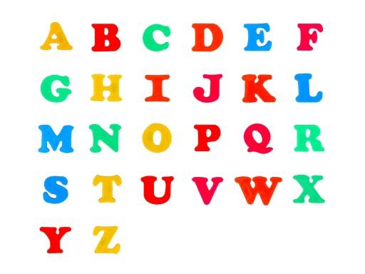 ALFABET 26 liter MAGNETYCZNE literki magnes tablic