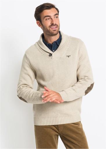 *B.P.C beżowy sweter męski L. 10772613943 Odzież Męska Swetry PH PUOMPH-8