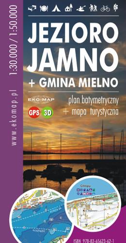 MAPA BATYMETRYCZNA JEZ. JAMNO + GMINA MIELNO GPS