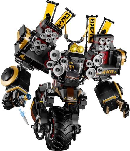 LEGO NINJAGO 70632 CZARNY ROBOT MECH WSTRZĄSU COLE