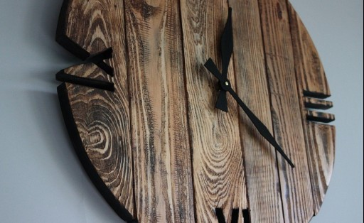 Zegar OldStyle rustic porwansalski loft duży 40cm