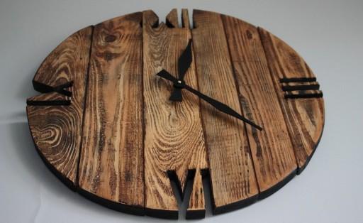 Zegar OldStyle rustic porwansalski loft duży 60cm