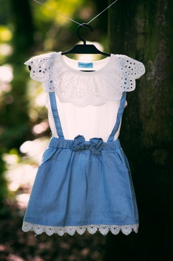 Sukienka Lato Wiosna jeans dziewczynka PSYTUL