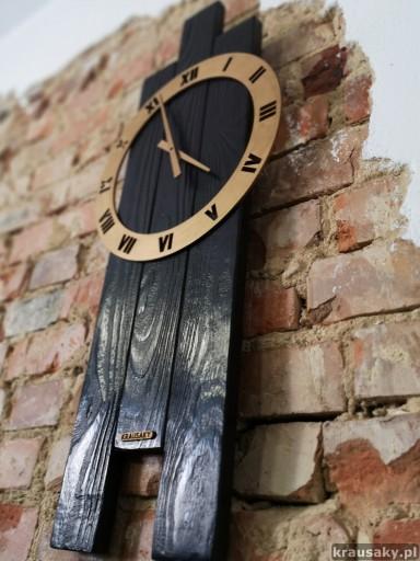 Zegar VIP2 drewniany duży 40x80cm loft rustykalny