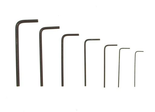 Miniaturowe imbusy 0,7mm-3mm 7sztuk Pro'sKit