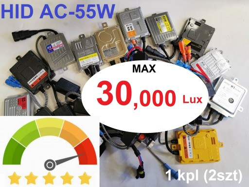 Różne Mocne HID Xenon AC 55W CANBUS 30.000Lux