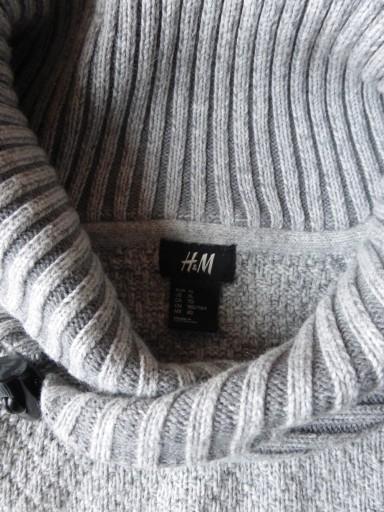 SWETR SWETER CIEPŁY MĘSKI ZIMOWY H&M XL SZARY 9895513287 Odzież Męska Swetry UY UZFHUY-3
