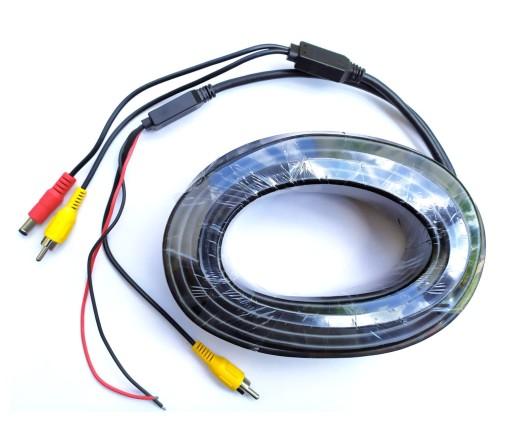 15 m Kabel przewód do kamer wideo RCA zasilanie DC 8363555889
