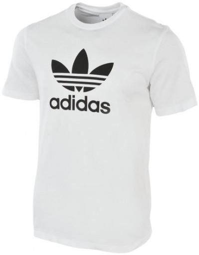 Koszulka męska Adidas Trefoil biała CW0710 r. L 10037416917 Odzież Męska T-shirty ZH DVHBZH-6