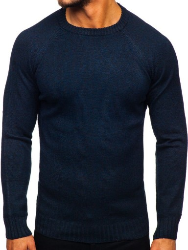 SWETER MĘSKI KLASYCZNY GRANATOWY H1929 DENLEY_2XL 10001769600 Odzież Męska Swetry JZ VATFJZ-9
