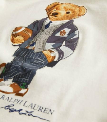 T-shirt męski Polo Bear Ralph Lauren ecru r.L 10488442381 Odzież Męska T-shirty JL MDEUJL-3
