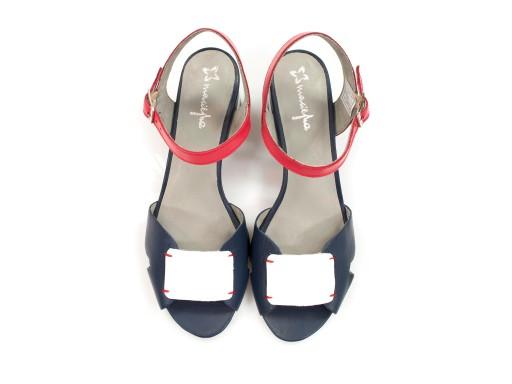 sandały Maciejka 04120 na obcasie skórzane buty 9207014082