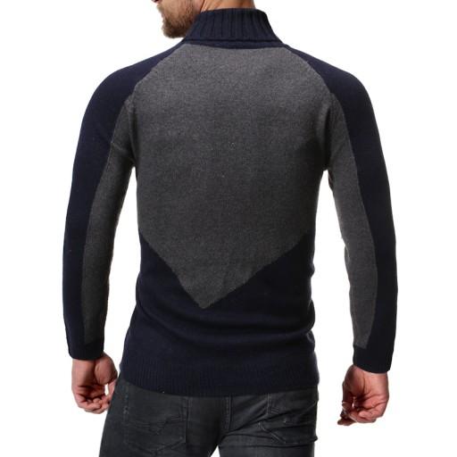 męski sweter z golfem sweter męski Dzianina męska 9814347855 Odzież Męska Swetry ZQ MUFVZQ-7