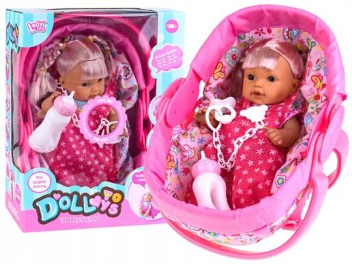 LALA gaworzy siusia lalka + nosidełko + akcesoria
