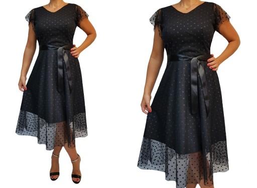 Nowa Sukienka Wesele Klosz 40 42 44 46 48 50 52 9965854083 Allegro Pl