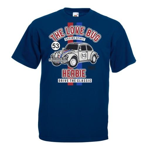 Koszulka samochÓd auto Garbus prezent klasyk M 10521633430 Odzież Męska T-shirty BL YLDEBL-6