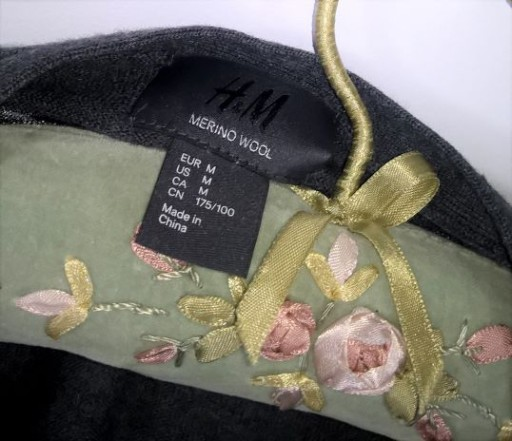 *H&M* SZARY sweter KARDIGAN wełna ŁATY M 10769723420 Odzież Męska Swetry GA CGQVGA-9