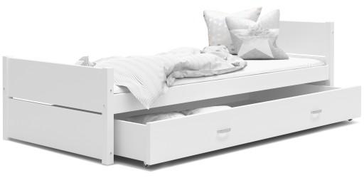Łóżko młodzieżowe TYMON 90x200 materac szuflada