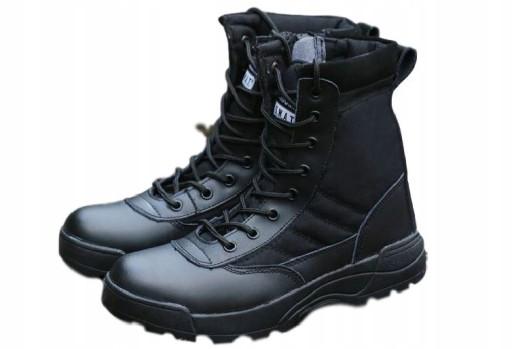 Zimowe buty męskie za kostkę wysokie militarne 44