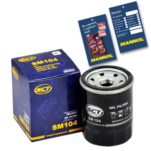 Filtr Oleju SCT SM104 FIAT Albea 172 PL RO TR 1.4