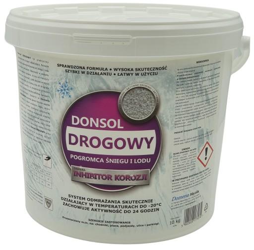 Donsol DROGOWY 10 kg antylód chlorek sól drogowa