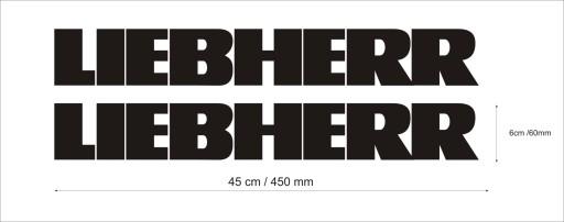 TRANSFERS LIEBHERR EXCAVATOR CHARGER 45cm 2 PCS