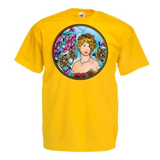 Koszulka z nadrukiem kobieta artdeco prezent XL 10515707847 Odzież Męska T-shirty RH QDMYRH-1