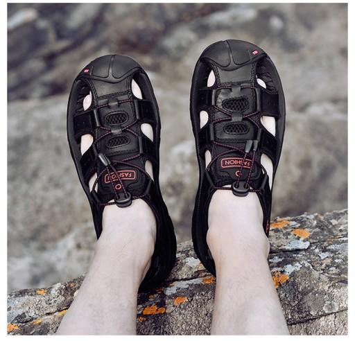 Duży rozmiar Męskie buty sandały Buty plażowe r.48 10666136751 Obuwie Męskie Męskie OF YMUBOF-3