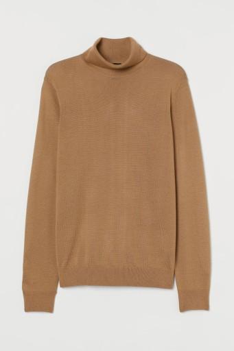 sweter męski merino wool blend H&M M 175 N123 10702908407 Odzież Męska Swetry VA XRJVVA-9