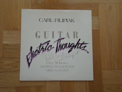 CARL FILIPIAK - ELECTRIC THOUGHTS. WYD.USA