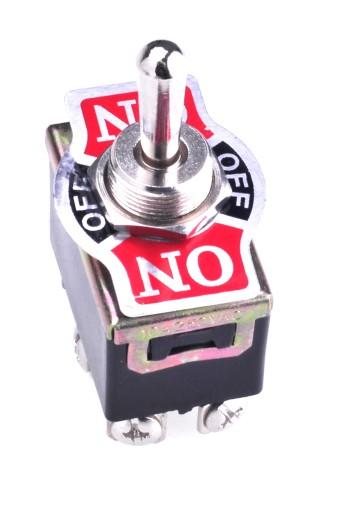 Przełącznik hebelkowy ON-OFF-ON śrub 10A/250VAC