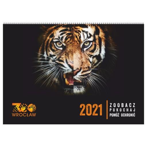 Zwierzęta ZOO Wrocław Kalendarz ścienny 2021