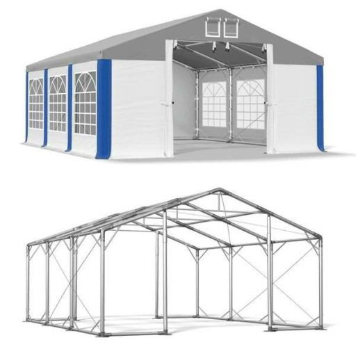 4x6m Namiot ogrodowy wzmocniony namioty zimowy