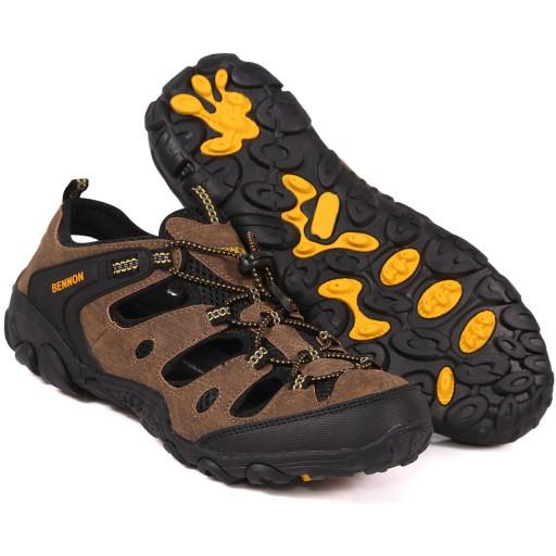 Sandały Męskie Trekkingowe Brązowe BENNON CLIFTON 9682937726 Obuwie Męskie Męskie DB TLLCDB-4