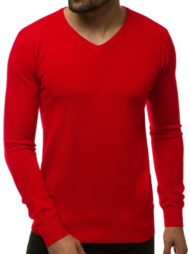 SWETER MĘSKI OZONEE TMK/YY03/6 CIEMNO-CZERWONY_L 9696955114 Odzież Męska Swetry CY WTOPCY-9