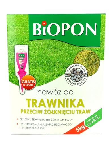 Nawoz Do Trawnika Przeciw Zolknieciu 5kg Biopon 7255786567 Allegro Pl