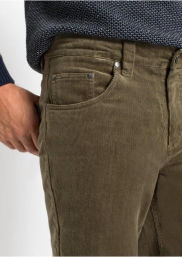 12X023 SZTRUKSOWE OLIWKOWE SPODNIE __27 10777341616 Odzież Męska Spodnie IE LRDLIE-1
