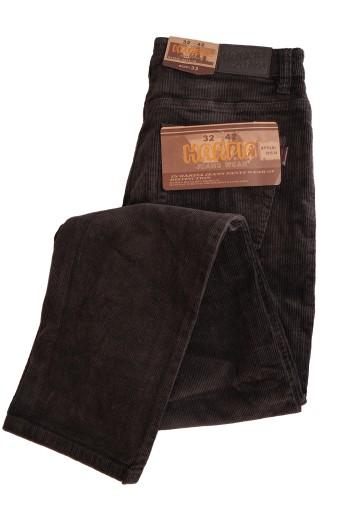 SPODNIE MĘSKIE SZTRUKSOWE brązowe W 32 pas 82-88 10037025762 Odzież Męska Spodnie OU MXQUOU-8