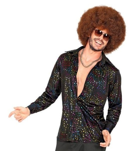 Koszula Lata 70 Disco W Kropki Kolorowe Xxl 8889774821 Allegro Pl