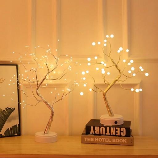 Swiateczne Drzewko Z Lampkami Led Swiecace Lampki 9865101697 Allegro Pl