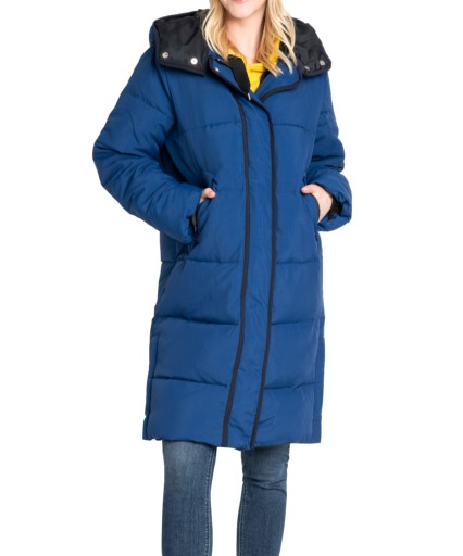 Kurtka Lee LONG PUFFER JACKET L56WVDMO Oil Blue M