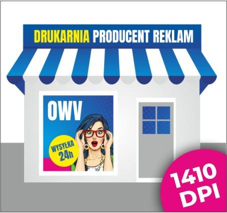 Folia One Way Vision OWV Szyby Witryny Projekt 1m2