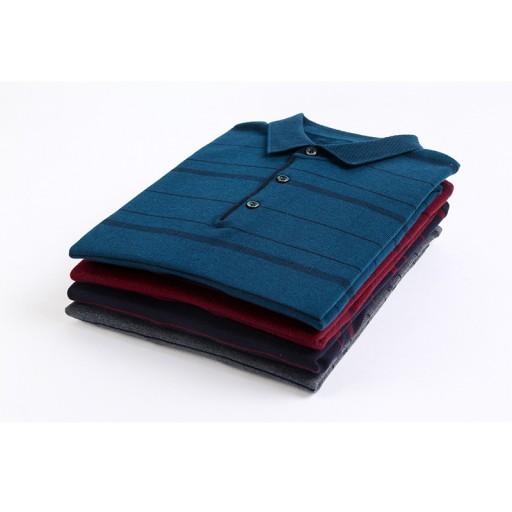 Męski sweter z dzianiny, kołnierz sweter w paski, 10709688821 Odzież Męska Swetry EF RCFFEF-2