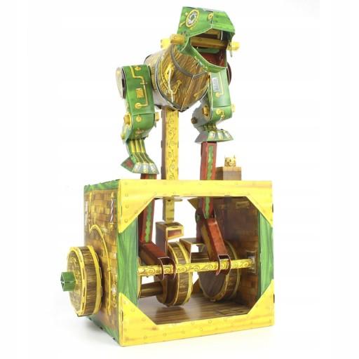 Model do składania Dinozaur maszyna z papieru