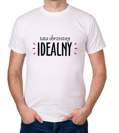 koszulka DLA OJCA TATY CHRZESTNEGO IDEALNY prezent 10001716857 Odzież Męska T-shirty TW WABVTW-3