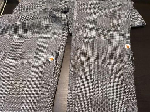 DESIGN DOPASOWANE SPODNIE W KRATE W32 L34 10756729709 Odzież Męska Spodnie NY AMUFNY-8