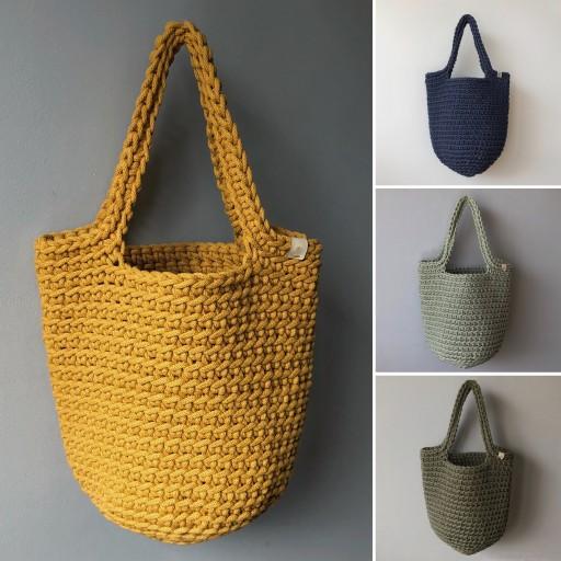 Torba Shopperka Szydelko Handmade Rekodzielo 9712590247 Allegro Pl